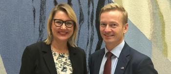 Inger Elisabeth Sagedal og Helge Orten