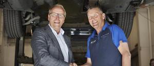 Morten Harsem, adm. dir i Snap Drive, og Edgar Bakken, tidl. eier av Lørenskog Bil og Caravan Service AS