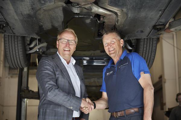 Morten Harsem, adm. dir Snap Drive, og Edgar Bakken, tidl. eier av Lørenskog Bil og Caravan Service AS