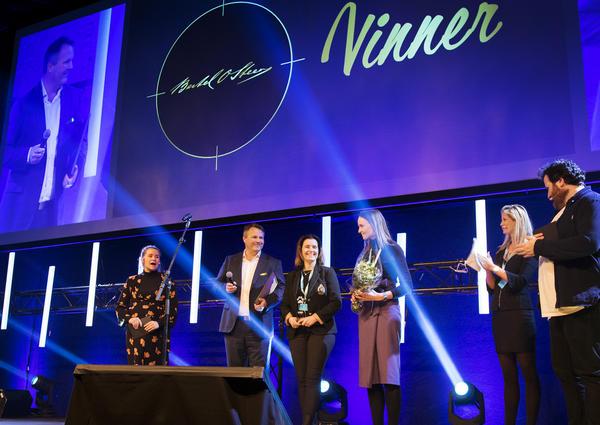 Anders Rikter, Line Brovold og Thea Ølstad mottok prisen for Årets stillingsannonse på vegne av Bertel O. Steen.