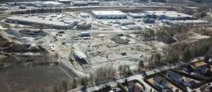Arbeidet med Bertel O. Steens nye logistikkbygg på Berger er påbegynt.