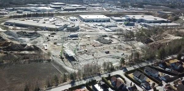 Arbeidet med Bertel O. Steens nye logistikkbygg på Berger er igangsatt.